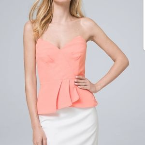 WHBM Bustier top with removable  straps
